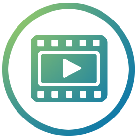 xmpie video personalisation blue and green film logo