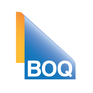 bank of queensland logo blue and yellow