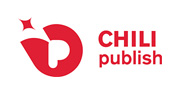 chili publish logo red on white background