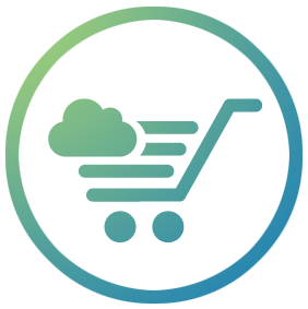 personaleffect storeflow blue and green trolley with cloud