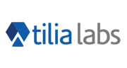 tilia labs white and grey logo with triangles