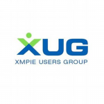 xug logo in green and blue
