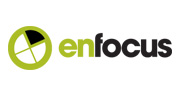 enfocus green and black logo with circle