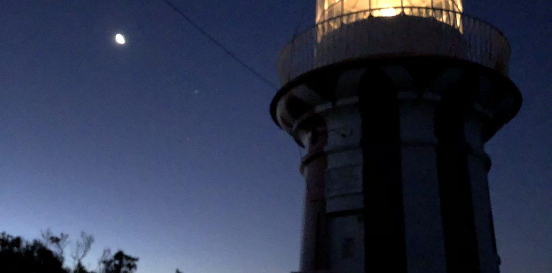 lighthouse on dark sky australia