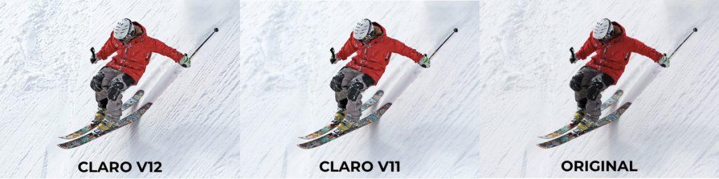 elpical claro v12 downhill skiier enhanced image