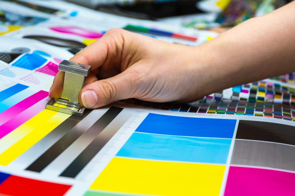 printer industry CMYK colours with hand prepress