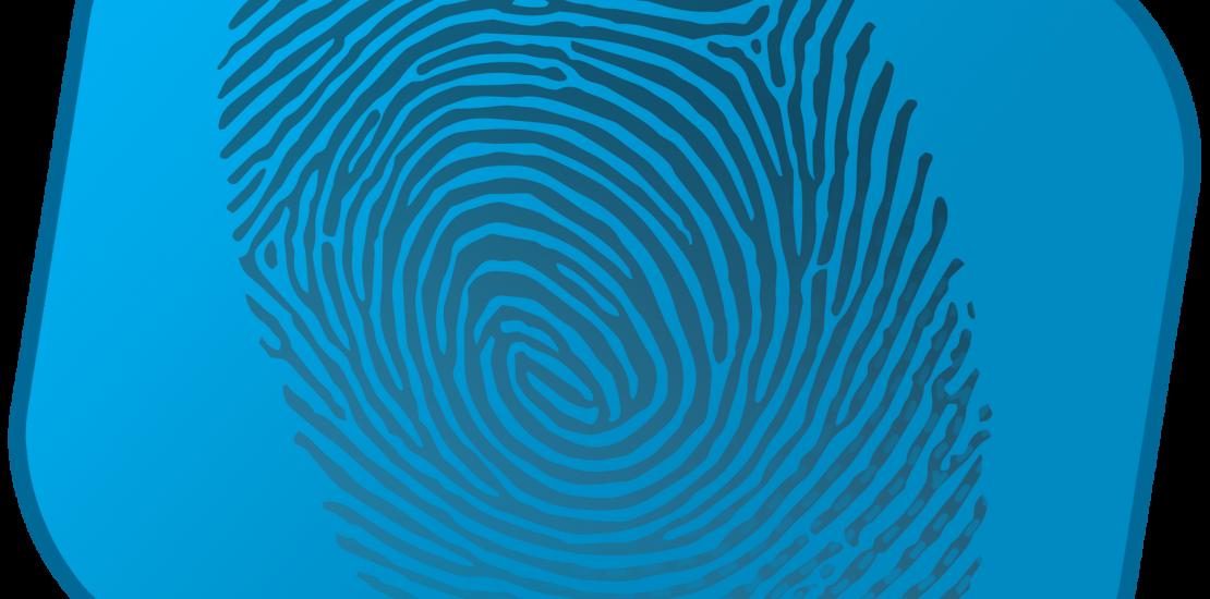 creative software solutions fingerprint on blue