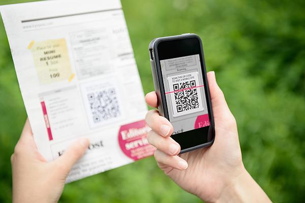 direct mail marketing QR code